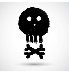 Cartoon doodle pirate skull vector image