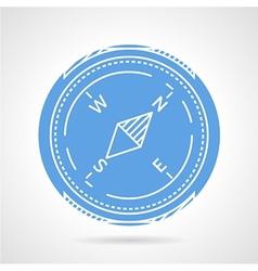 Compass round icon vector image
