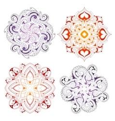 Mandala shape ornaments vector image