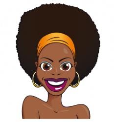 portrait African girl vector image vector image