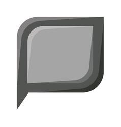 Realistic grayscale silhouette of bubble speech vector