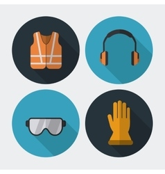 Safety equipment design vector image vector image