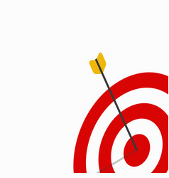 target sign with arrow vector image