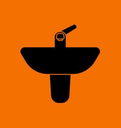wash basin icon vector image