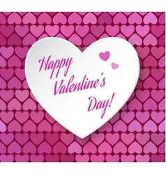 3d paper heart eps 10 Happy Valentines day card vector