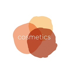 Abstract logo for cosmetics and beauty vector image