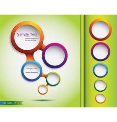 Abstract web bubble design vector image