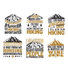 Adventure camping hiking set bundle quote best vector