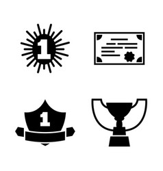 award winner simple related icons vector image