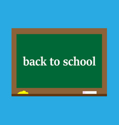 back to schoolblackboard vector image