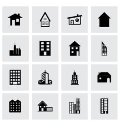 building icon set vector image