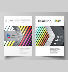 business templates for brochure flyer cover vector image