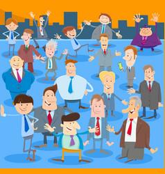 Businessmen or men cartoon characters group vector