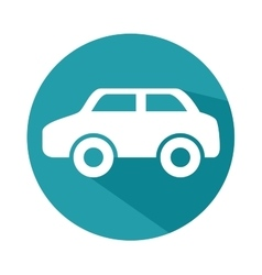 Car silhoeutte isolated icon vector