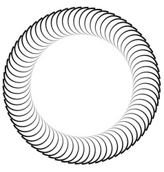 Circular black and white element vector