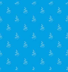 cut fir pattern seamless blue vector image