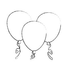 Decorative balloon isolated vector