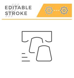 dental veneer editable stroke line icon vector image