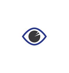 eye logo template icon design vector image