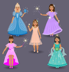 fairy set on grey vector image