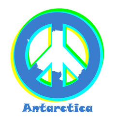 Flag of antarctica as a sign of pacifism vector