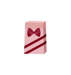 flat present paper packaging with bow vector image