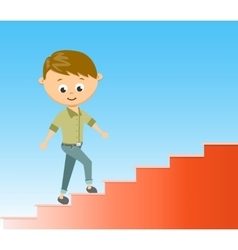 Flat style stairway to success vector image