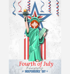 fourth of july us independence day vector image
