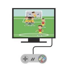 game console tvretro game console connected to tv vector image