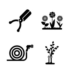 gardening simple related icons vector image