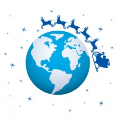 global Christmas background vector image