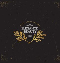 gold logo template vector image