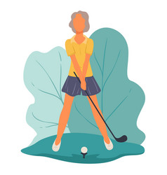 Golf player hitting ball on field hobor sports vector