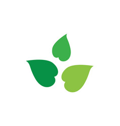 green leaf ecology nature element icon vector image