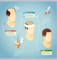 hair transplantation vector image