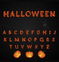 halloween brush painted alphabet vector image