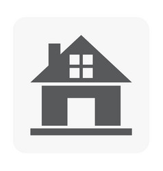 home building icon on white vector image
