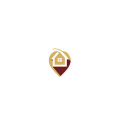 house pin mark business logo vector image