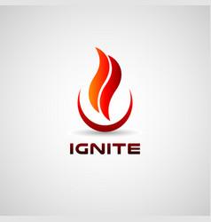 Ignite logo design symbol icon vector