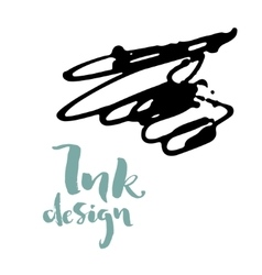 Ink splashes design vector