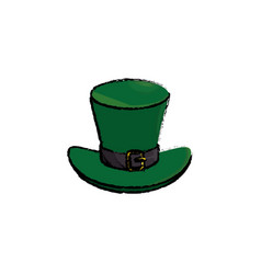 Irish elf hat icon vector