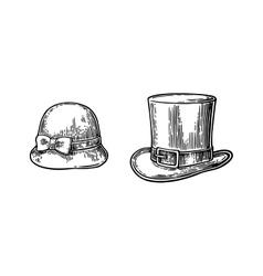 Ladies and gentlemen hat vector image
