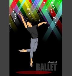 Modern ballet dancer colored vector