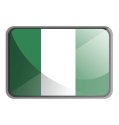 nigeria flag on white background vector image