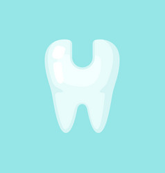 Opened ill tooth cute colorful icon vector
