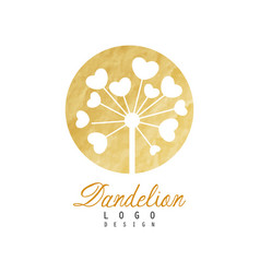 Original logo design of dandelion flower natural vector