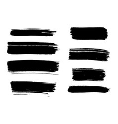 painted grunge stripes set black labels vector image