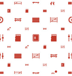 Panel icons pattern seamless white background vector