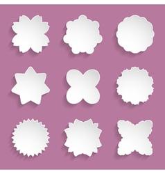 paper floral frames vector image