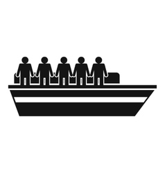 People on ship icon simple style vector